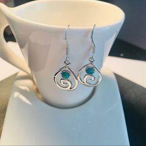 Sterling Silver Modern Swirl Earring